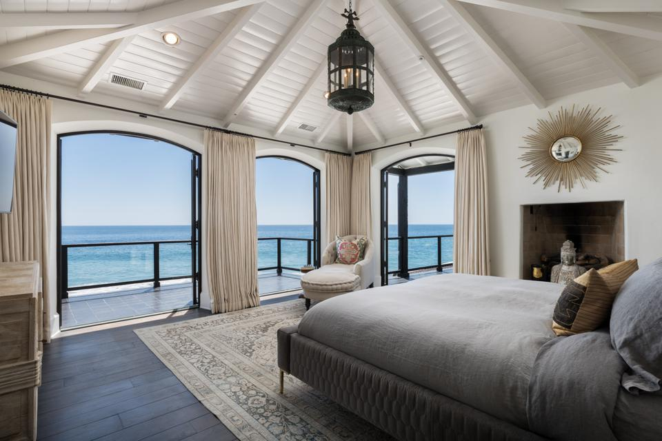 bedroom suite inside malibu luxury home of ted sarandos netflix formerly david spade