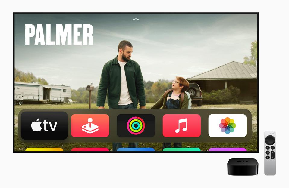 Apple TV 4K with new Siri Remote.