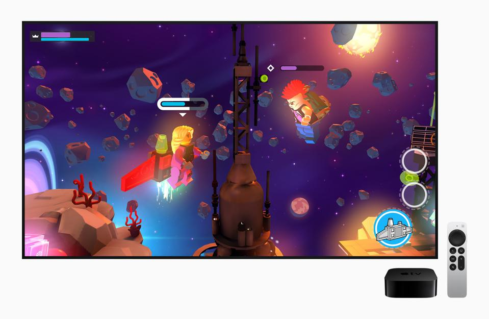 The A12 Bionic chip makes advanced games possible on Apple TV 4K.