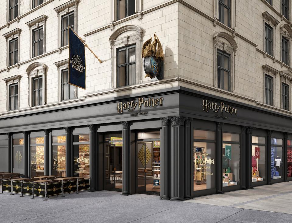 Outside Harry Potter New York
