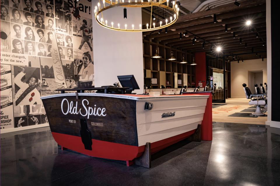 The first-ever Old Spice Barbershop opened in Columbus, Ohio and features a content studio, a celebrity barber residency program and more