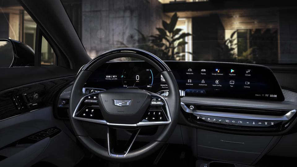 The 2023 Cadillac Lyriq features a 33-inch curved LCD display and infotainment system powered by Android Automotive
