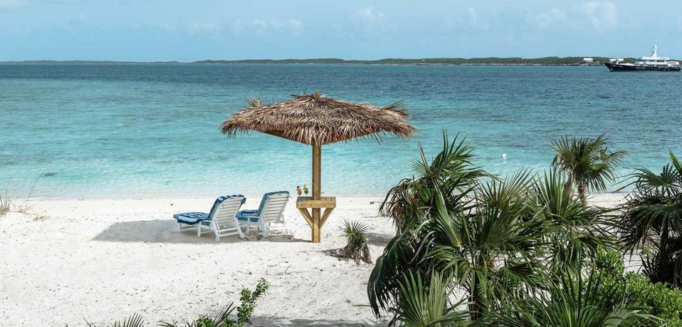 beach, bahams, exumas, beach chairs, water, ocean