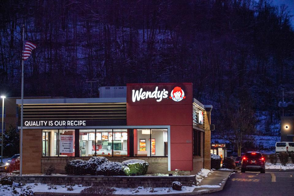 Wendy's logo is seen at one of their stores in Athens.