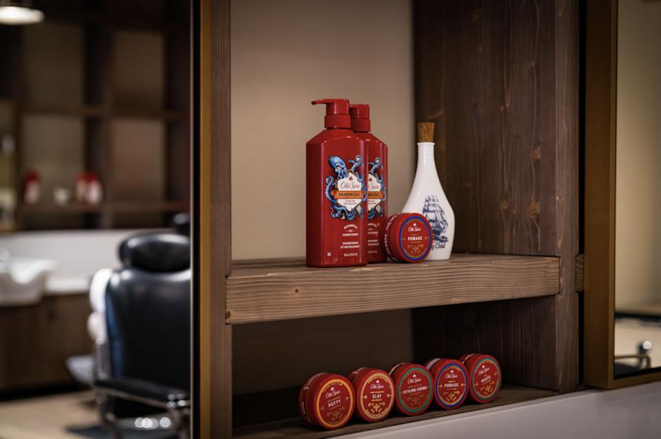 Old Spice recently launched newly formulated hair products, including the shampoos, conditioners and styling products