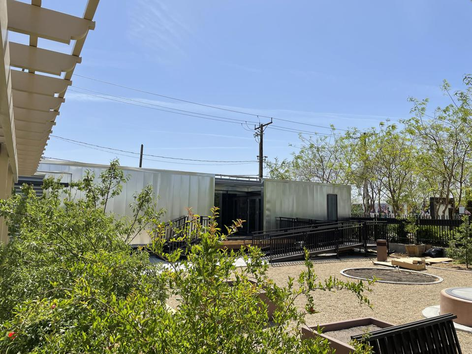 The Mojave Bloom house design and built by the University of Las Vegas Solar Decathlon team.
