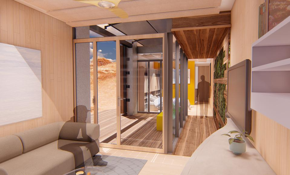 A graphic of the interior of the Mojave Bloom designed and built by the University of Las Vegas