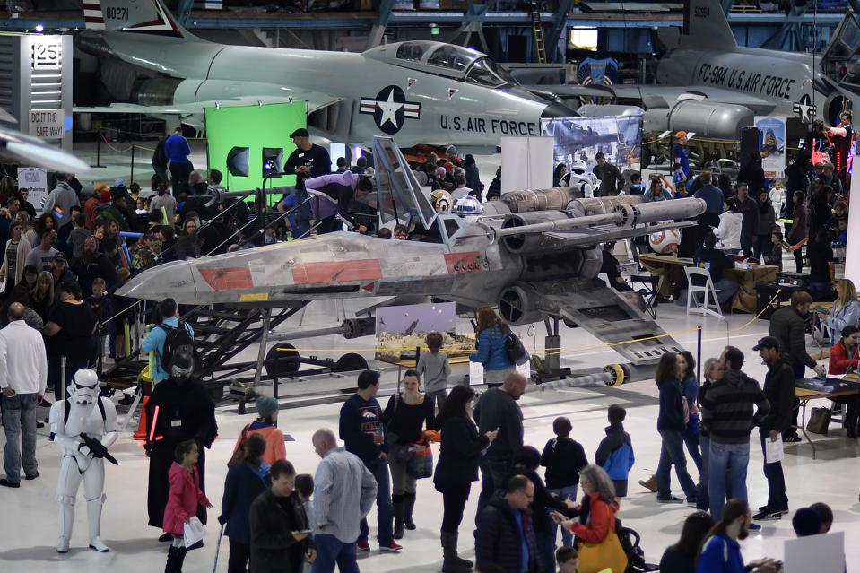 Star Wars themed day at Wings Over the Rockies aviation museum in Denver