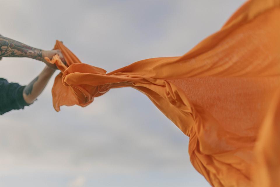 100% Infinna - a  unique, circular textile fiber that's produced using Infinited Fiber's technology