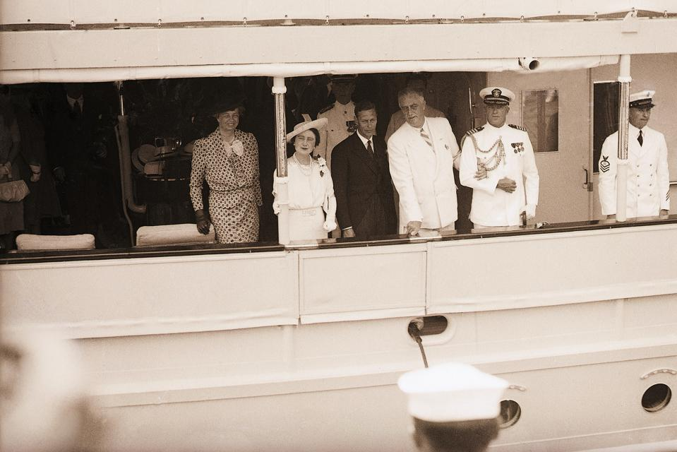 The Roosevelts used the Presidential Yacht to strengthen ties with the Royal Family.