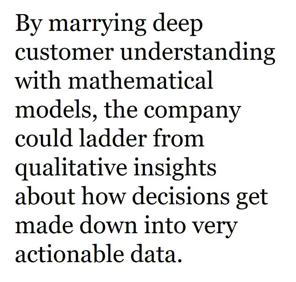 Qualitative insight and quantitative models are both needed for commercial transformation.