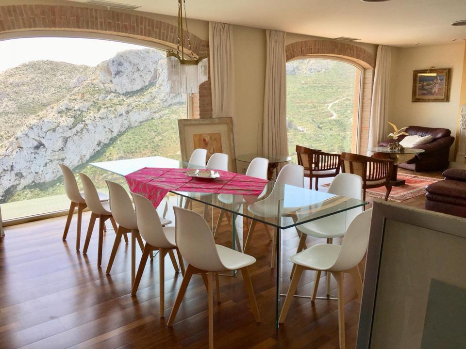 luxury home on a cliff overlooking granadella javea spain