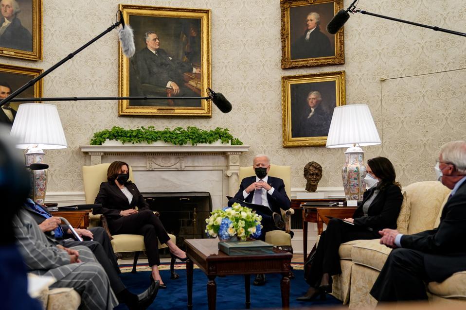 President Biden Meets With Congress Members To Discuss American Jobs Plan