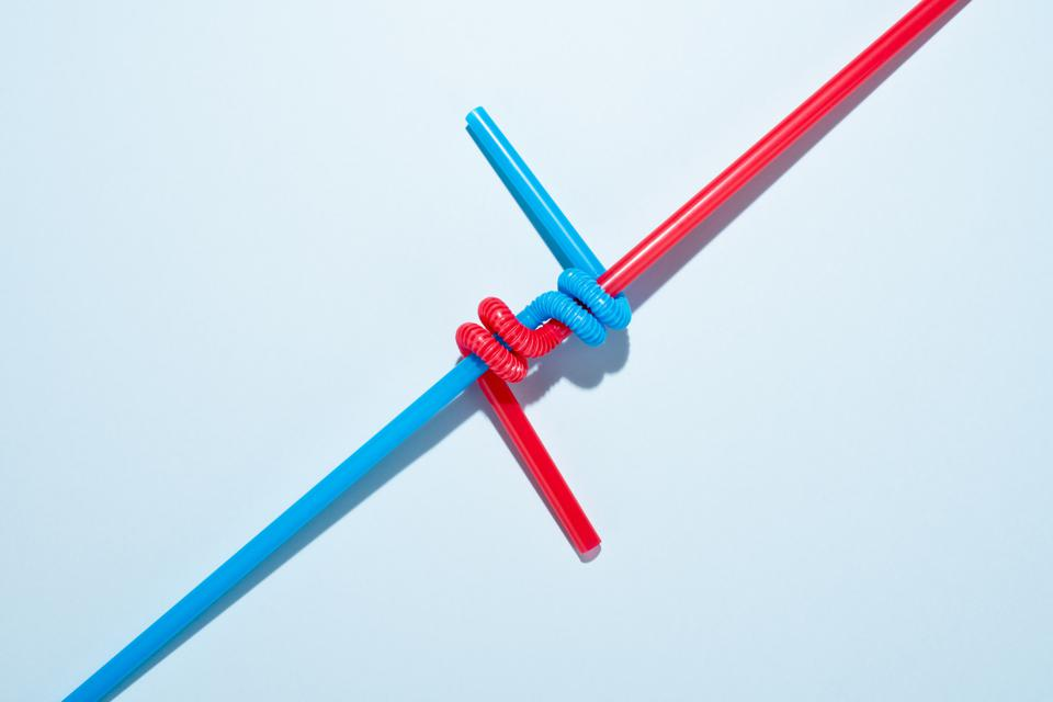 Two Twisted Drinking Straws