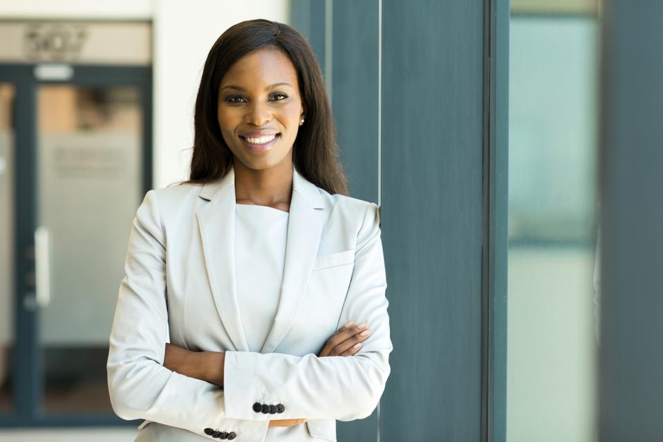 young business woman in modern office