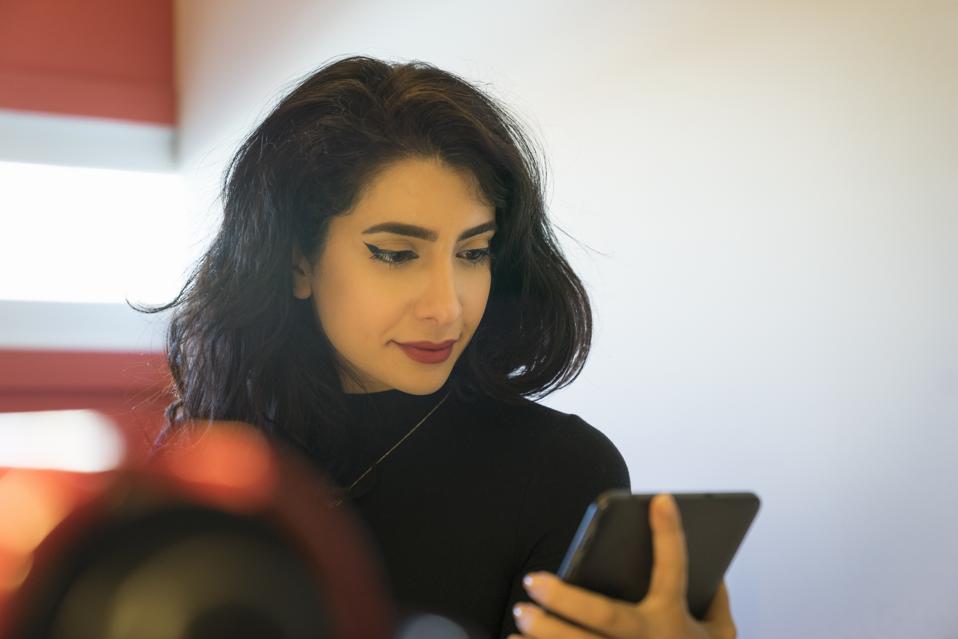 Creative worker in modern office
