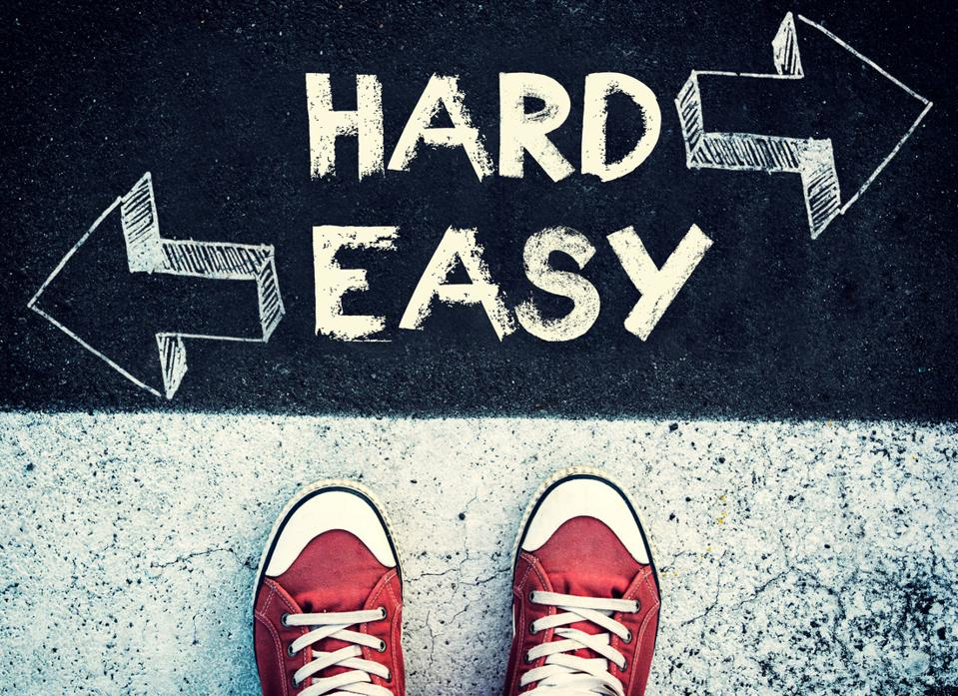Hard and easy dilemma