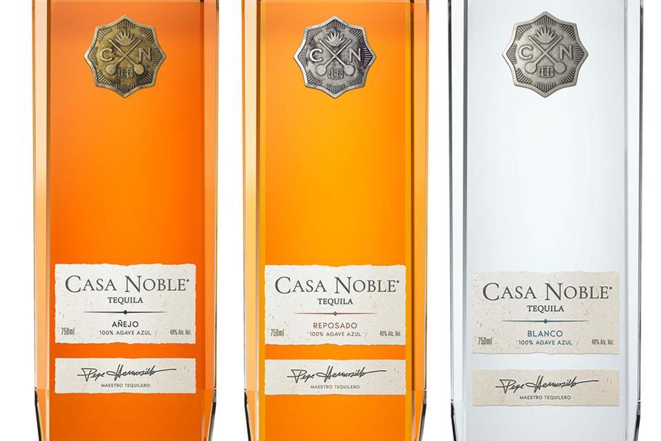 Casa Noble's new bottles of Blanco, Reposado and Anejo