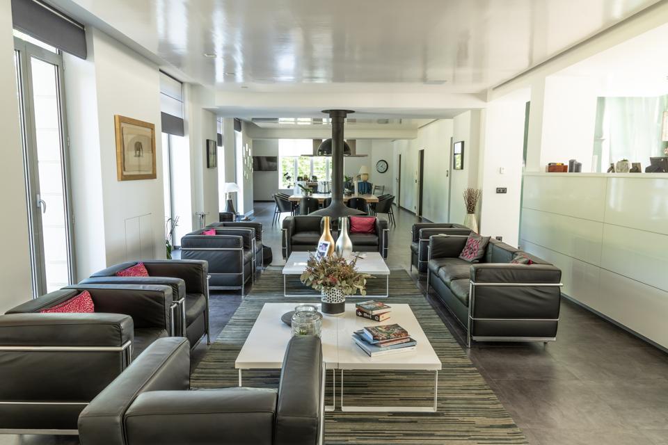 contemporary living room inside chateau 59300 Valenciennes, Nord Pas de Calais, France
