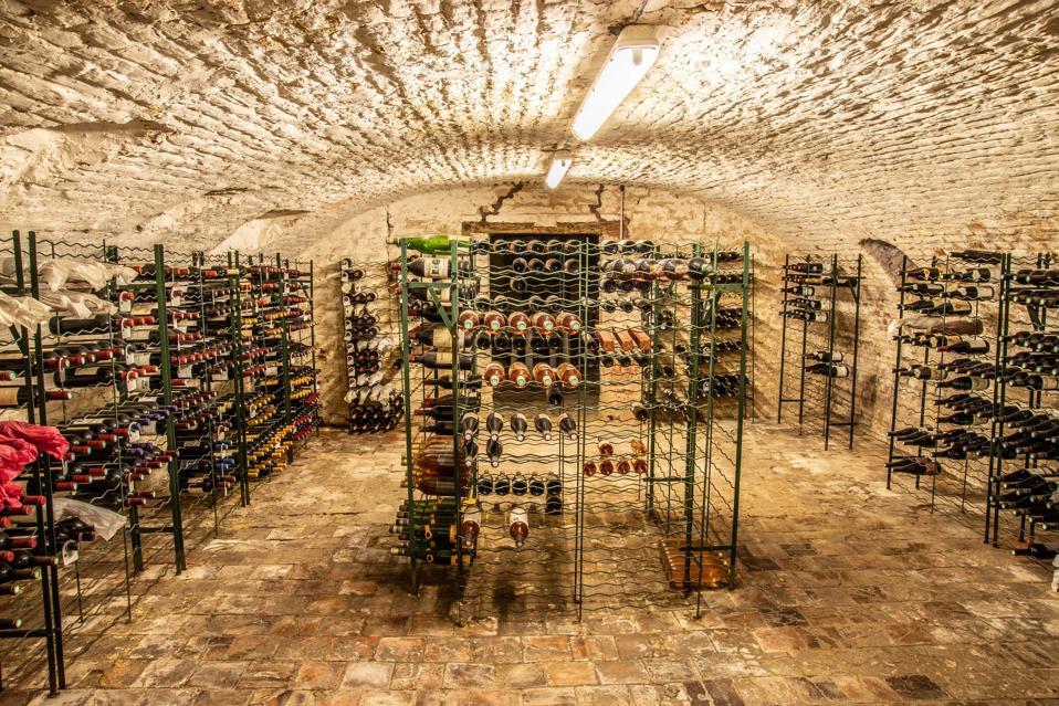 wine vault french chateau Valenciennes, Nord Pas de Calais, France