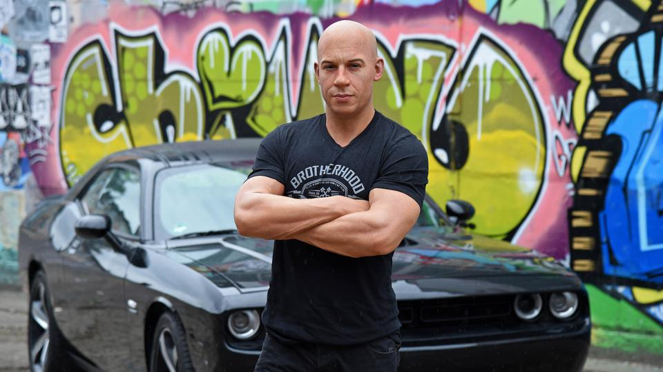 The Fast and Furious star Vin Diesel has wrecked more cars in motion pictures than any other actor.