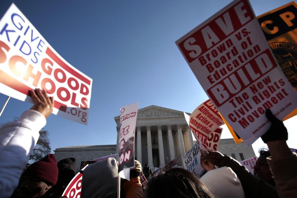 USA - Politics - Desegregation.Rally at Supreme Court