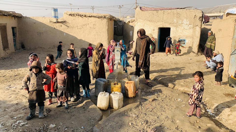 Internally Displaced People camp in Kabul
