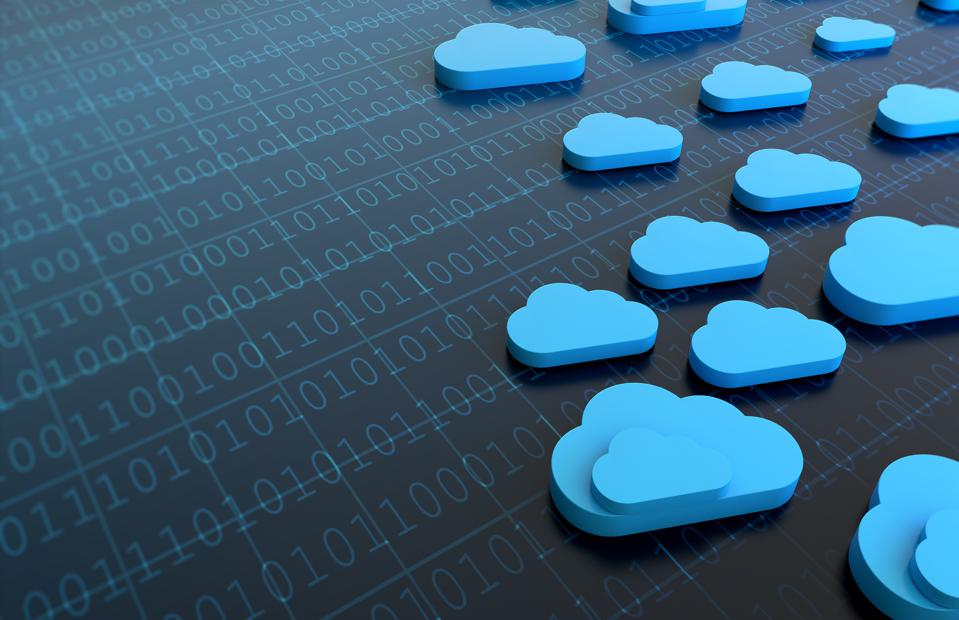 Cloud Computing Concept With Binary Codes