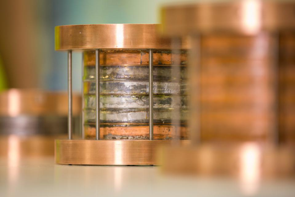 Magnetic test coils made with high temperature superconducting (HTS) material.