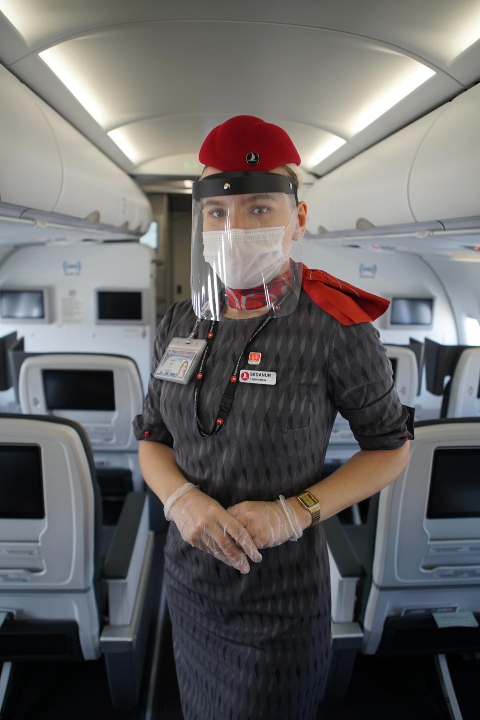 Flight attendant on Turkish Airlines