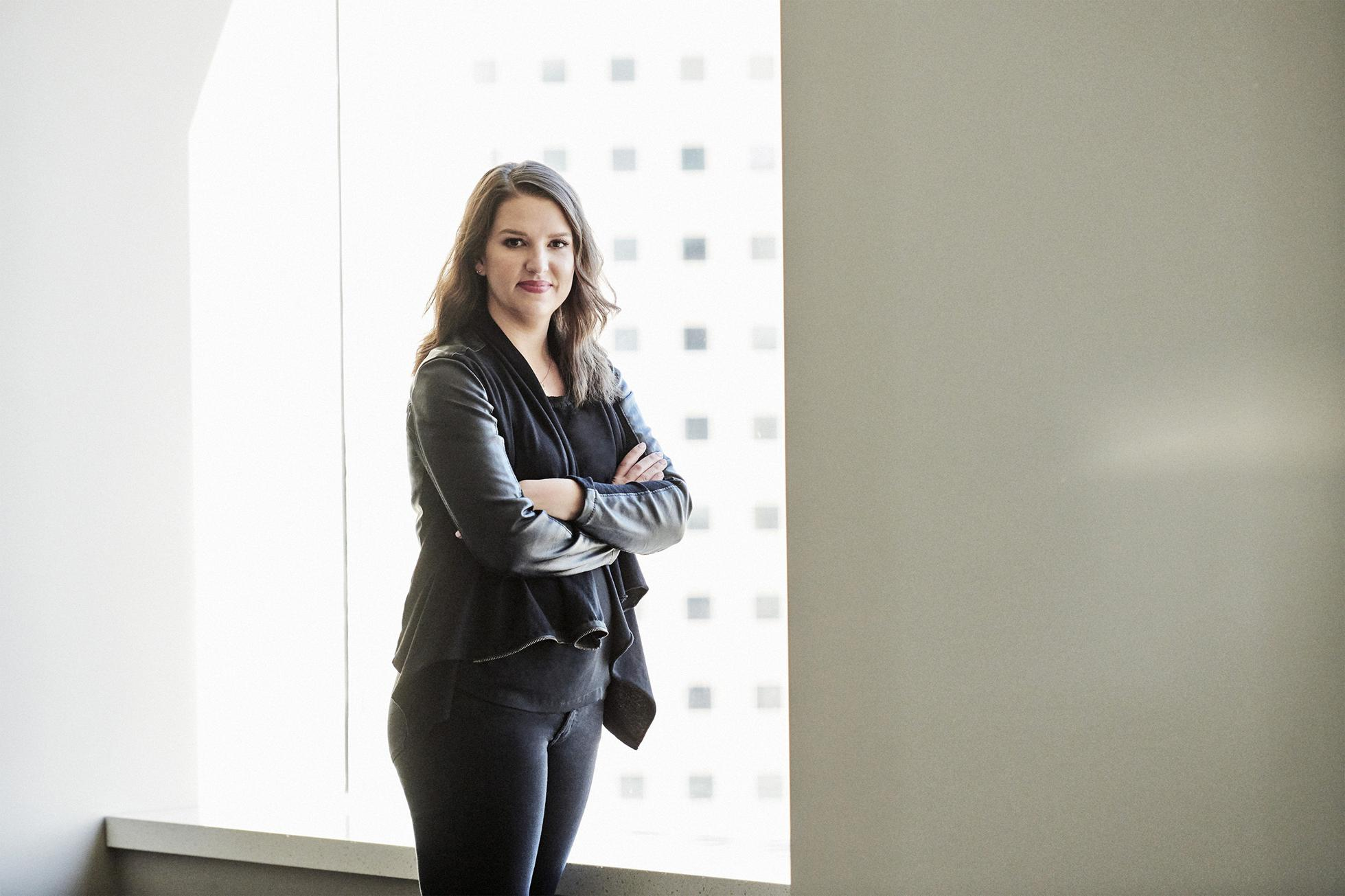 Rachel Carlson of Guild Education photographed by Jamel Toppin for Forbes.