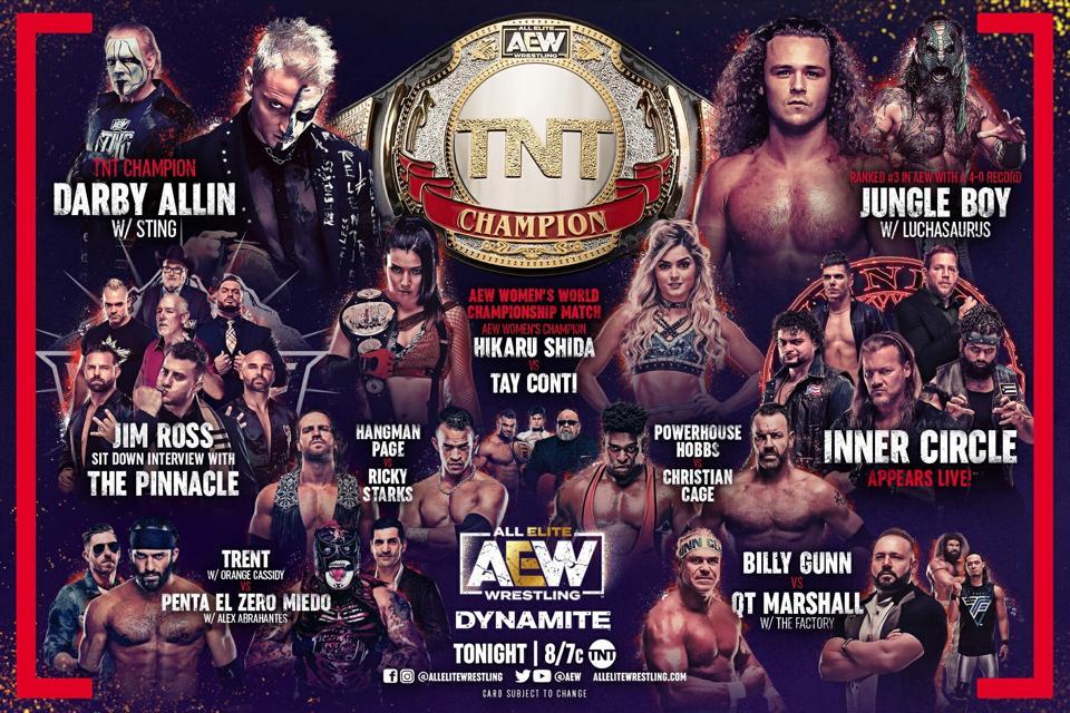 AEW Dynamite featuring Darby Allin vs. Jungle Boy