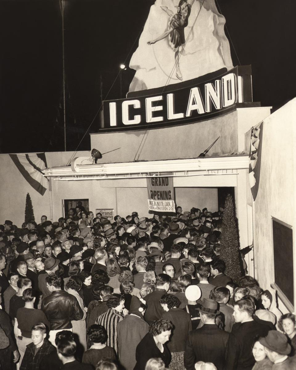 The Paramount Iceland skating rink grand opening in January 1940.