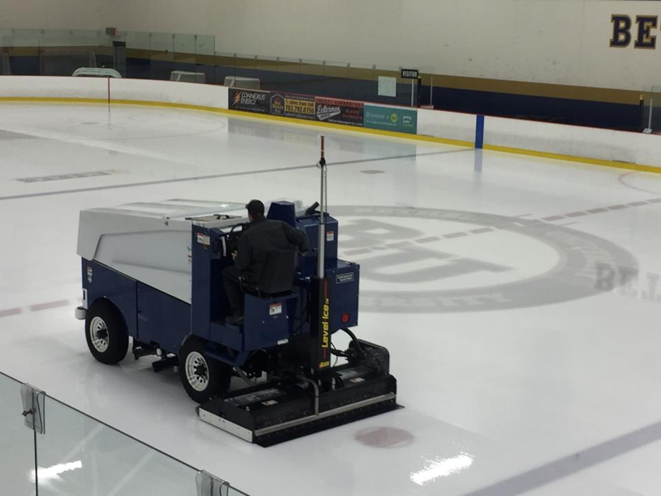 The darling of ice sports fans everywhere, the Zamboni ice resurfacing machine.