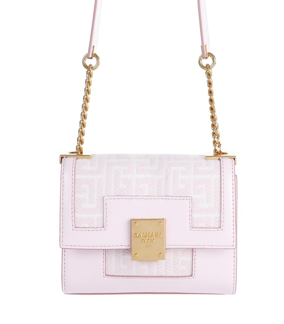 Small bicolor pink and white jacquard 1945 bag
