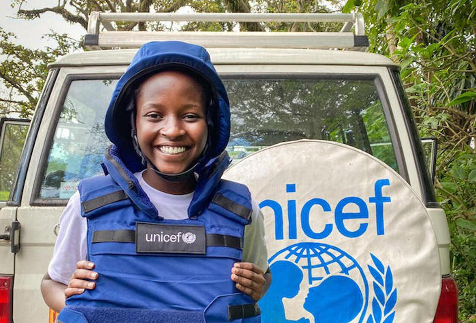 Ketsia, 16, is a UNICEF youth reporter in the Democratic Republic of the Congo.