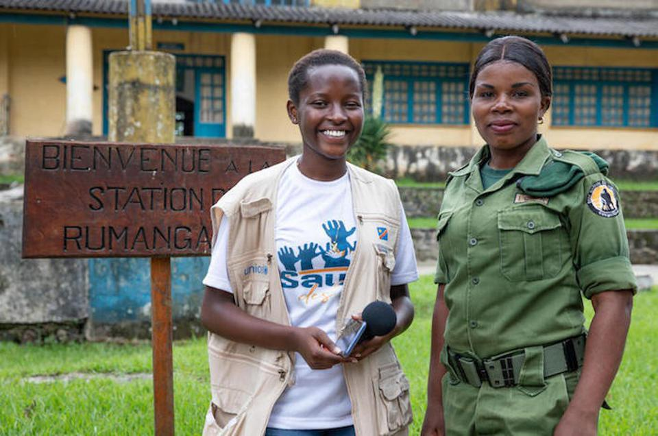 In Goma, Ketsia met with Aline, a woman who works as an eco-guard in Virunga Park in North Kivu province in DRC.