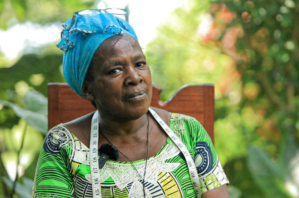 Thérèse has nine children and is a widow. Her husband was an eco-guardian in Virunga Park.