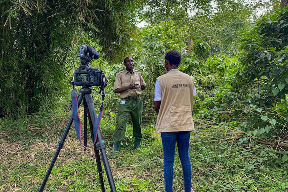 Ketsia interviews André, who has been a Virunga National Park eco-guard for over 22 years.