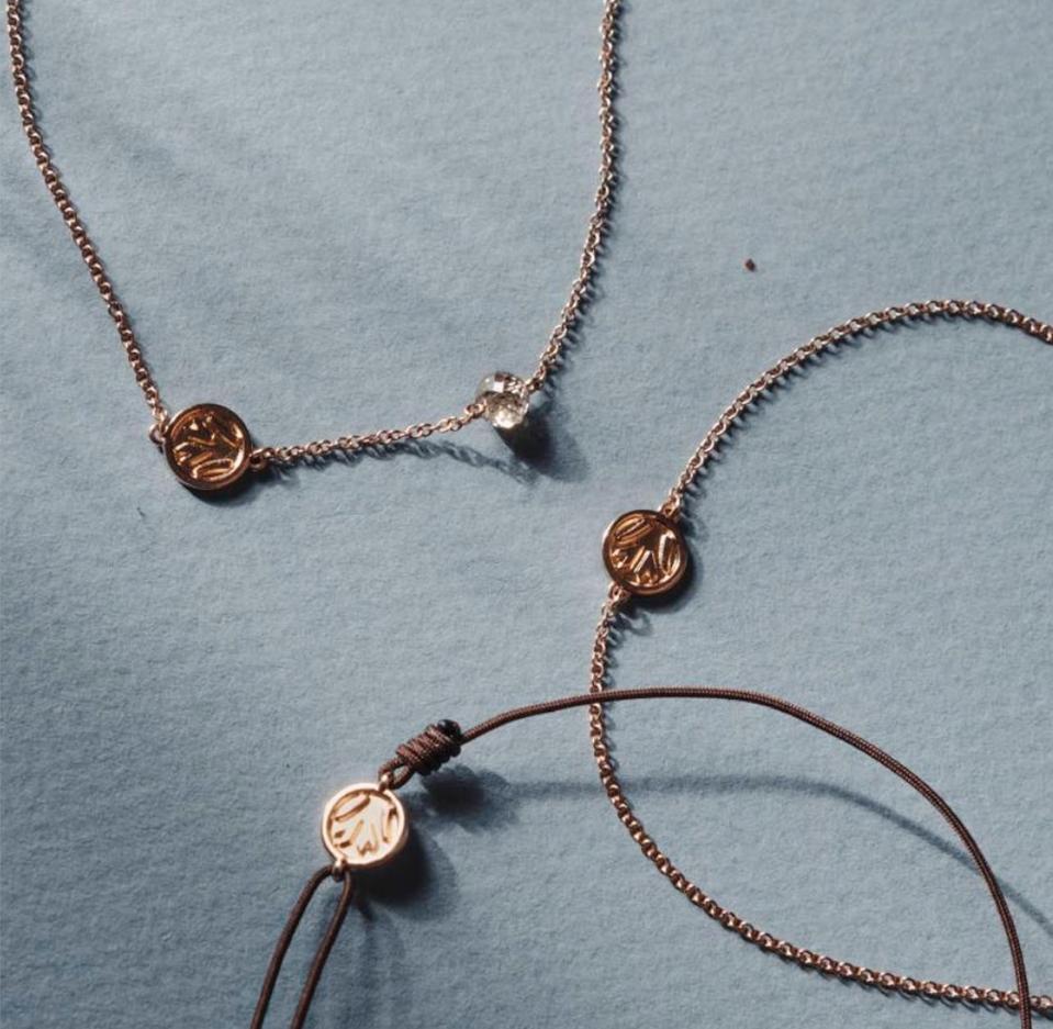 Nina Runsdorf 14kt Rose Gold and Chrome Diopside Bead 'Tree Of Life' Bracelet