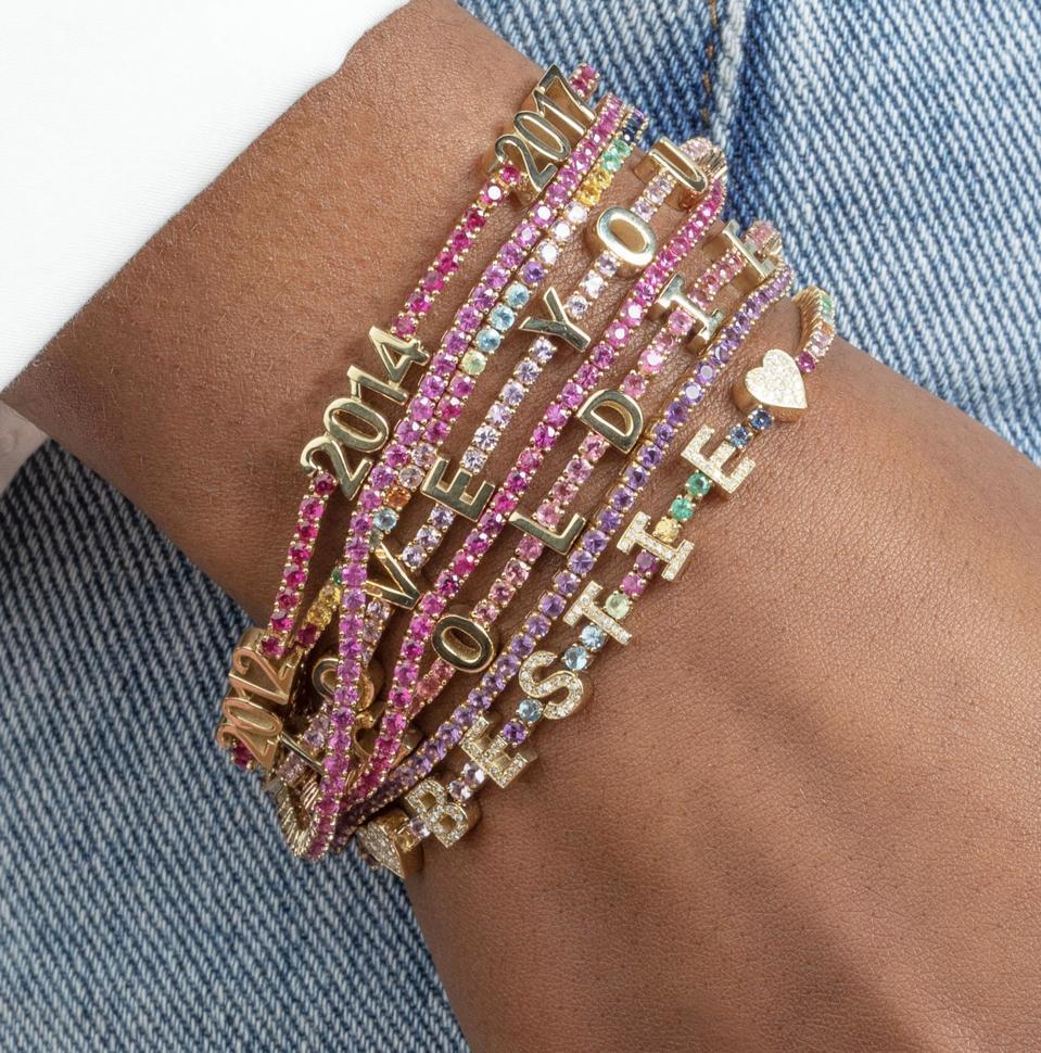 Personalized Ruby Tennis Bracelet