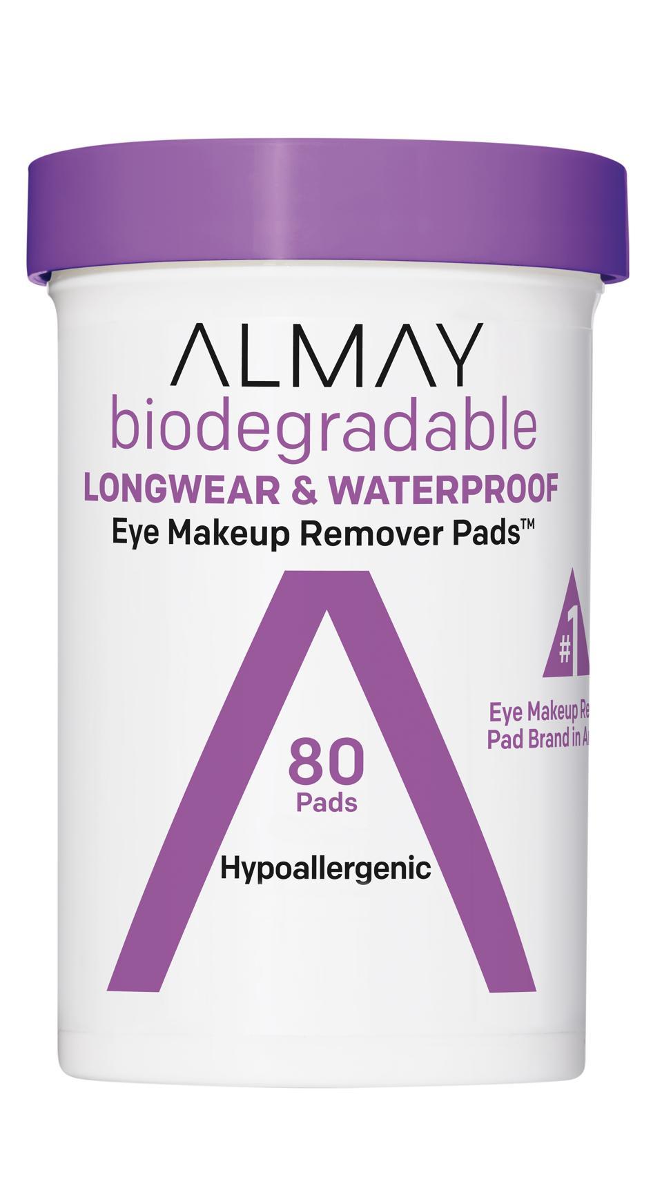 Almay Biodegradable Longwear & Waterproof Eye Makeup Remover Pads