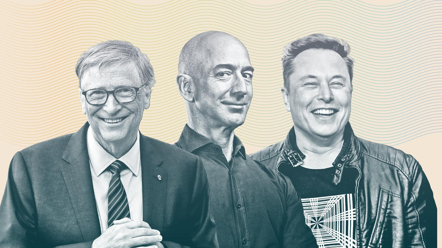 Bill Gates, Jeff Bezos, and Elon Musk are some of the world's richest people.