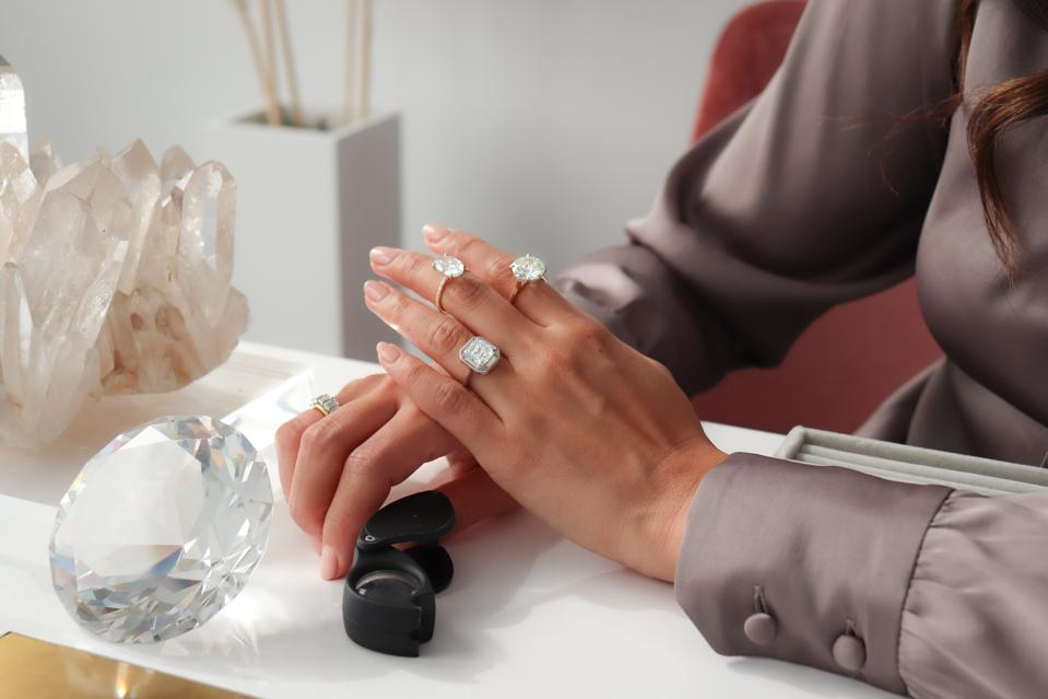 Clear Cut custom designed rings