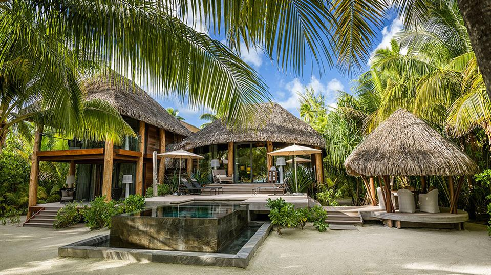 A hotel among palm trees