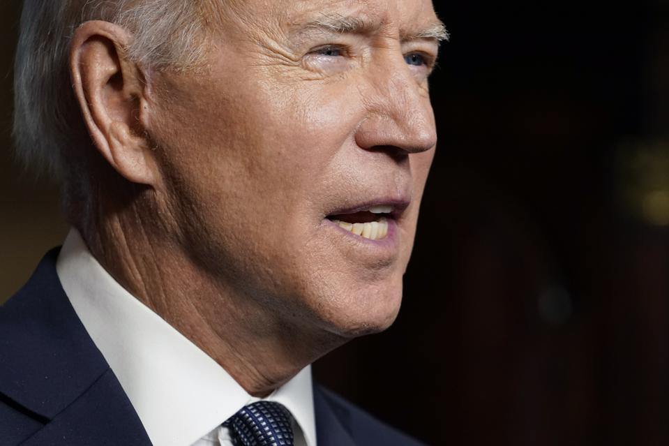 President Biden Delivers Address On Afghanistan From White House Treaty Room
