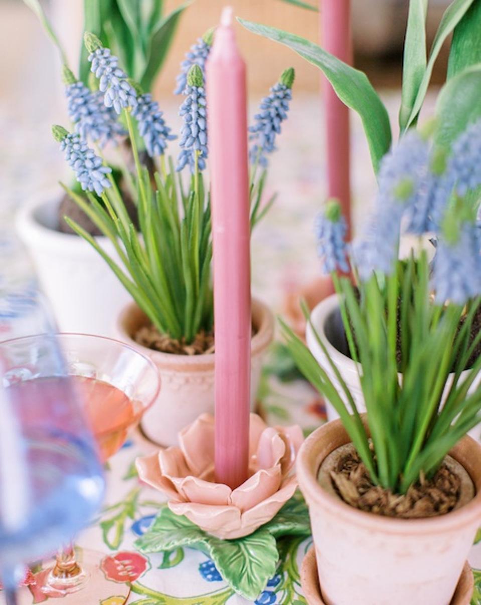Rose shaped tea light/candlestick holder