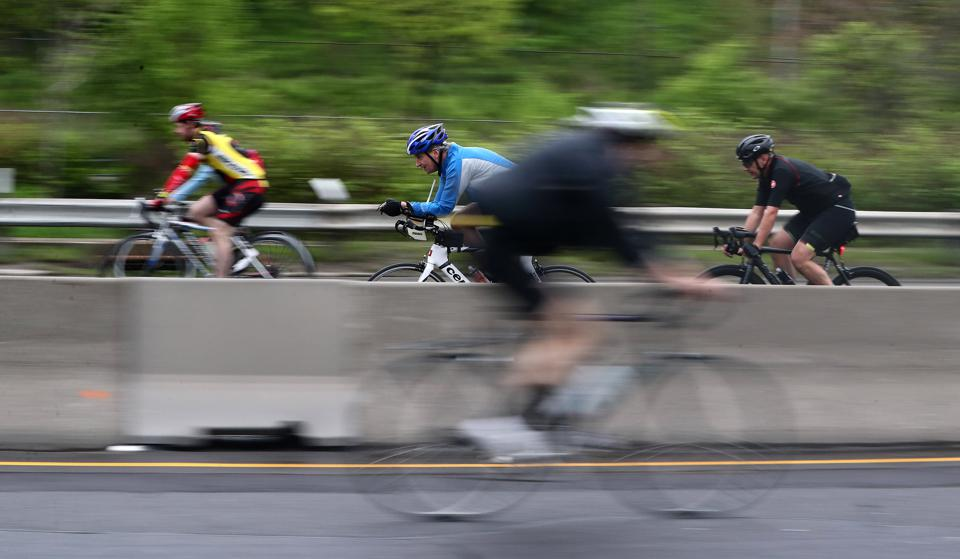 The Manulife Heart & Stroke Ride for Heart allows cyclists to ride on the Gardiner Expressway and the Don Valley Parkway to raise money for Canadian research funded by Heart & Stroke.