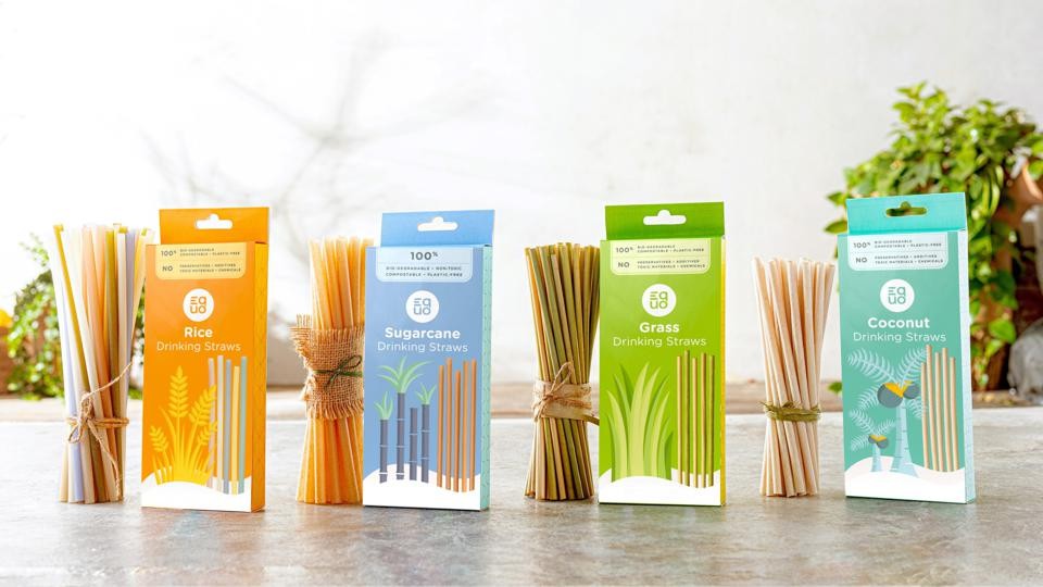 EQUO's line of drinking straws