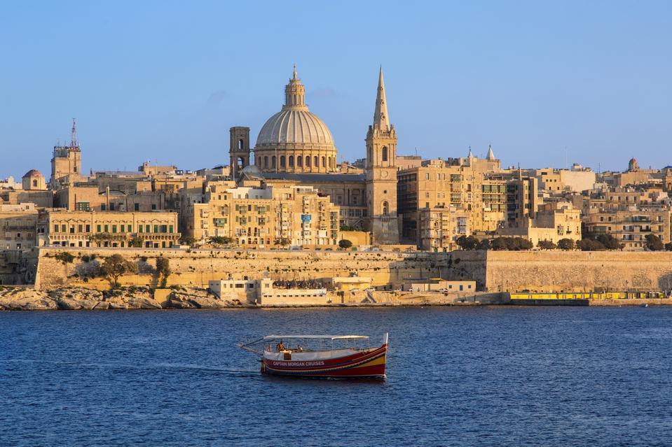 Malta, Valletta at Sunset